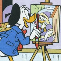 Zio Paperone e il prezioso dipinto floreale